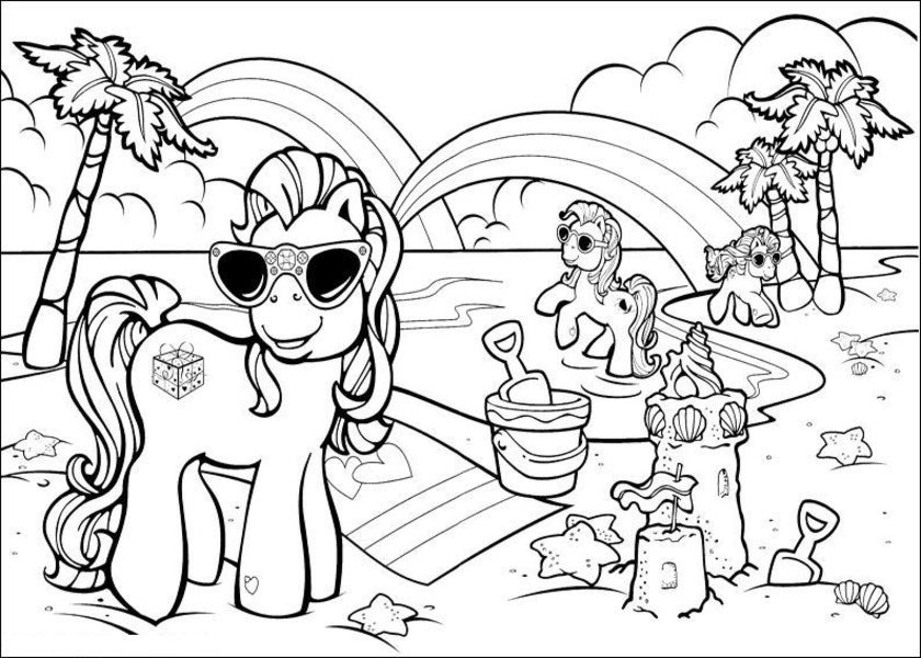 Beach #159120 (Nature) – Printable Coloring Pages