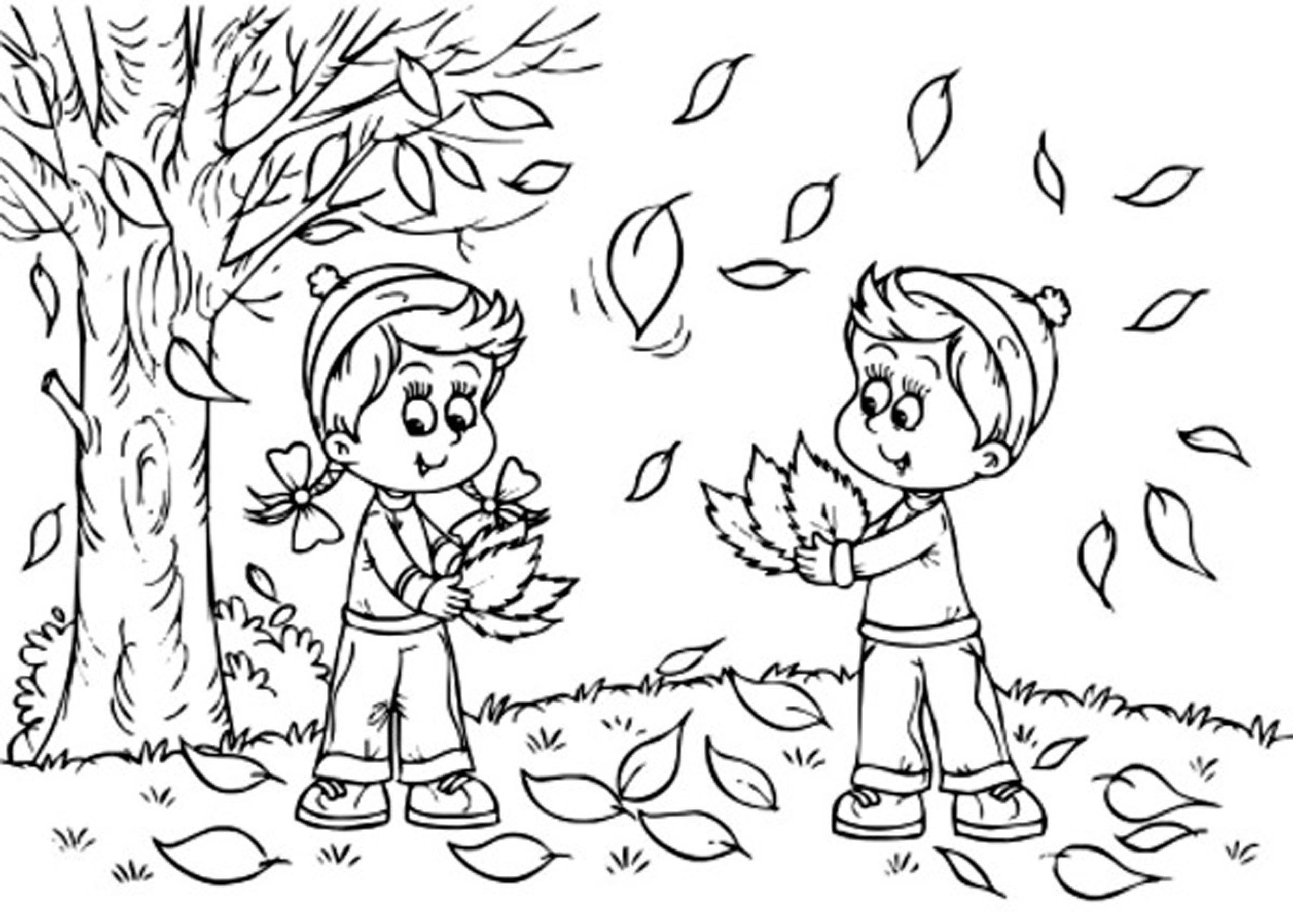 Fall Season 164054 Nature Printable Coloring Pages