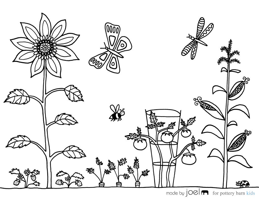 Garden 166426 Nature Printable Coloring Pages
