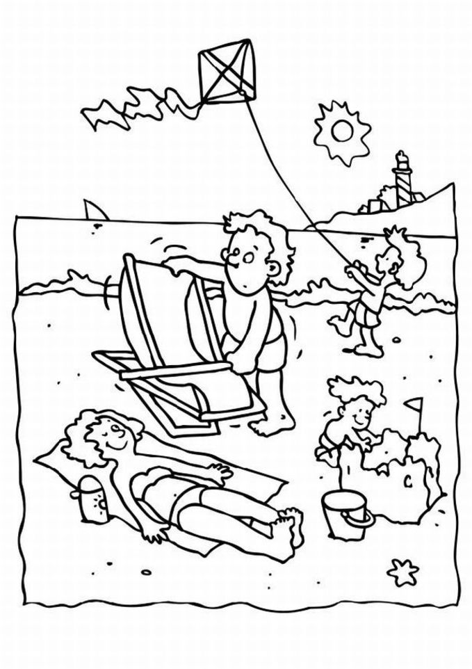 Summer Season 165105 Nature Printable Coloring Pages