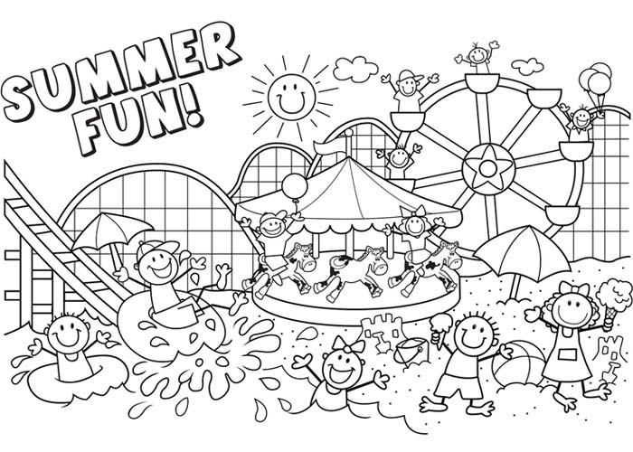 Summer Season 165155 Nature Printable Coloring Pages