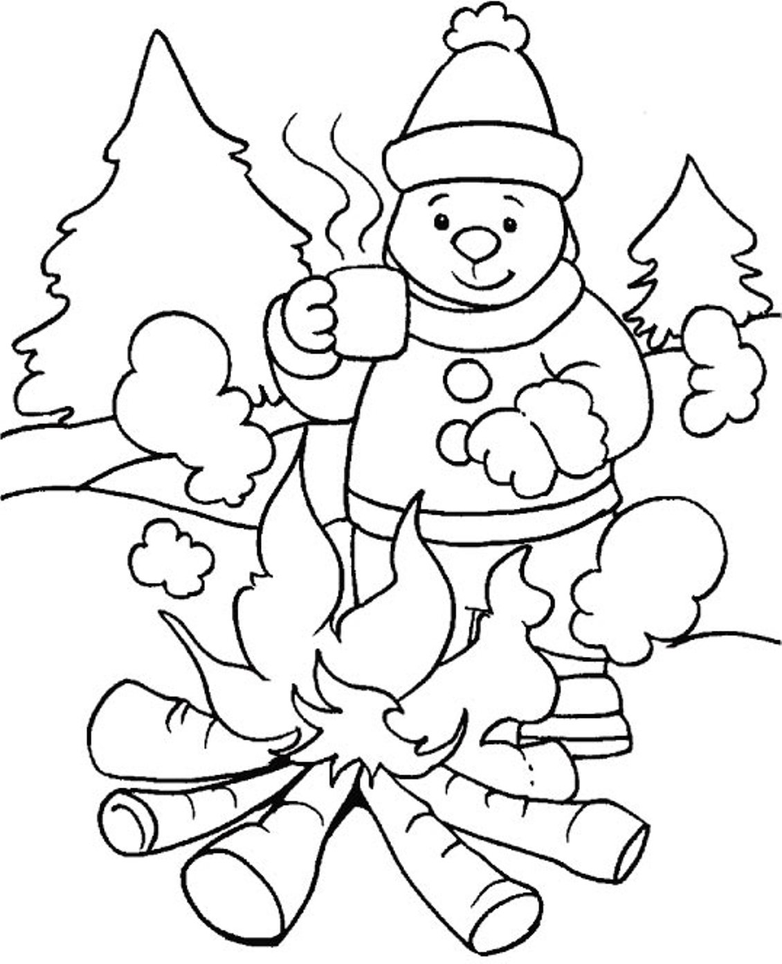 Winter season #6 (Nature) – Printable coloring pages