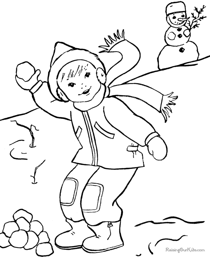 Winter season #10 (Nature) – Printable coloring pages