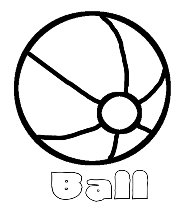 - Beach Ball #13 (Objects) – Printable Coloring Pages