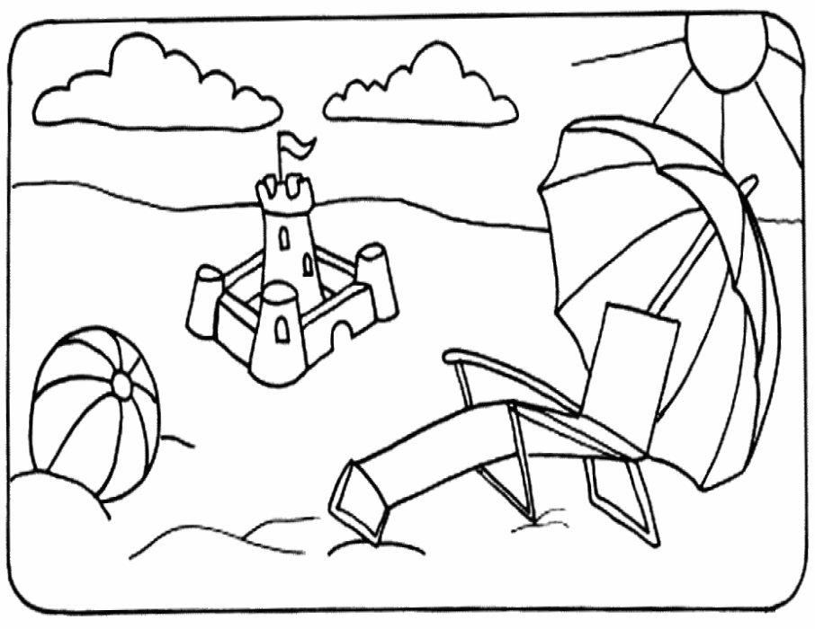 - Beach Ball #169182 (Objects) – Printable Coloring Pages