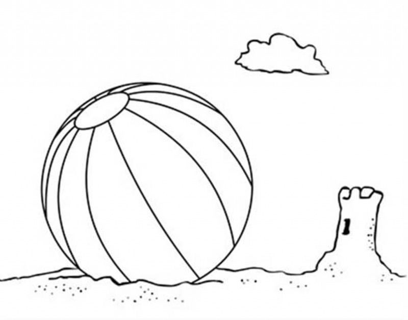 Beach Ball #169206 (Objects) – Printable Coloring Pages