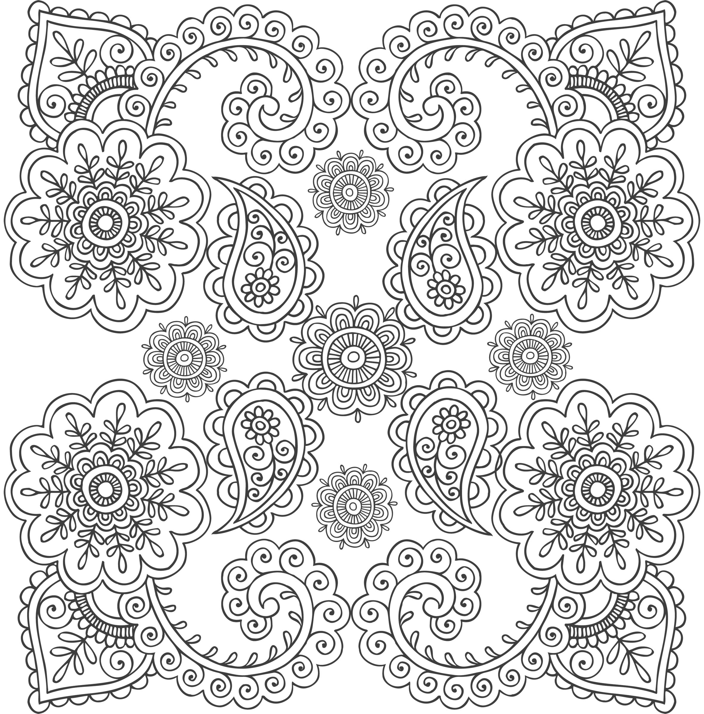 Anti-stress (Relaxation) – Printable coloring pages