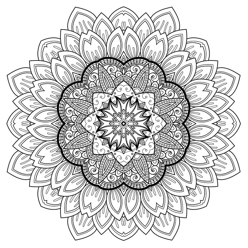 - Relaxation – Printable Coloring Pages