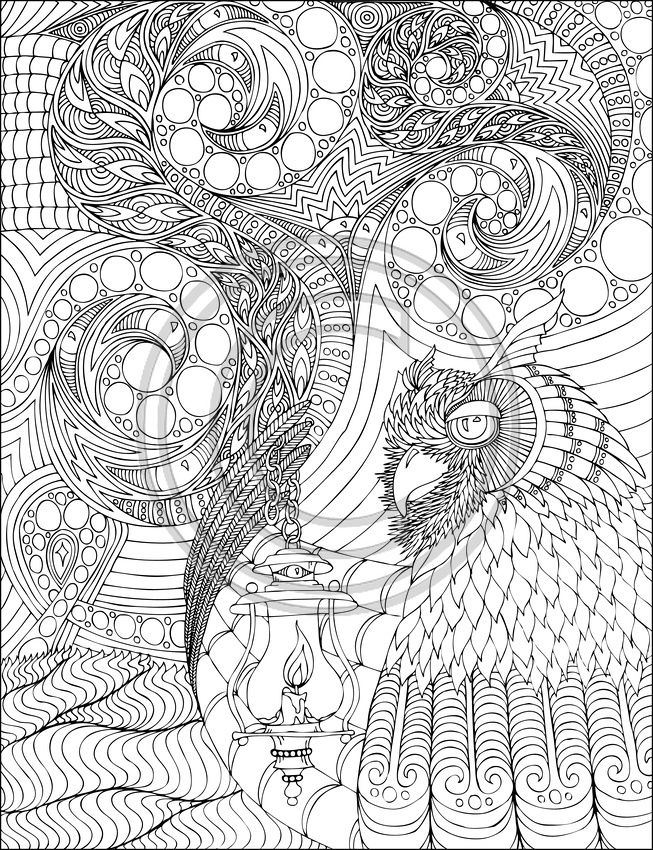 Art Therapy 23194 Relaxation Printable Coloring Pages