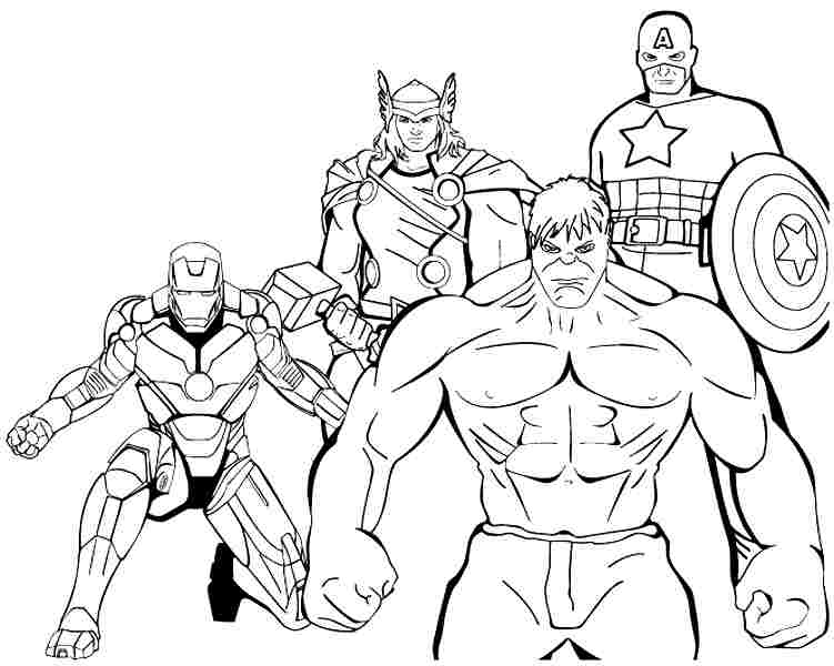 Superheroes – Printable Coloring Pages