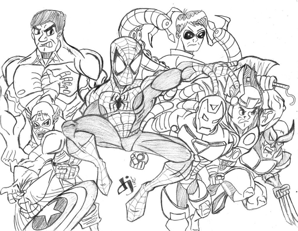 Avengers 74029 Superheroes Printable Coloring Pages