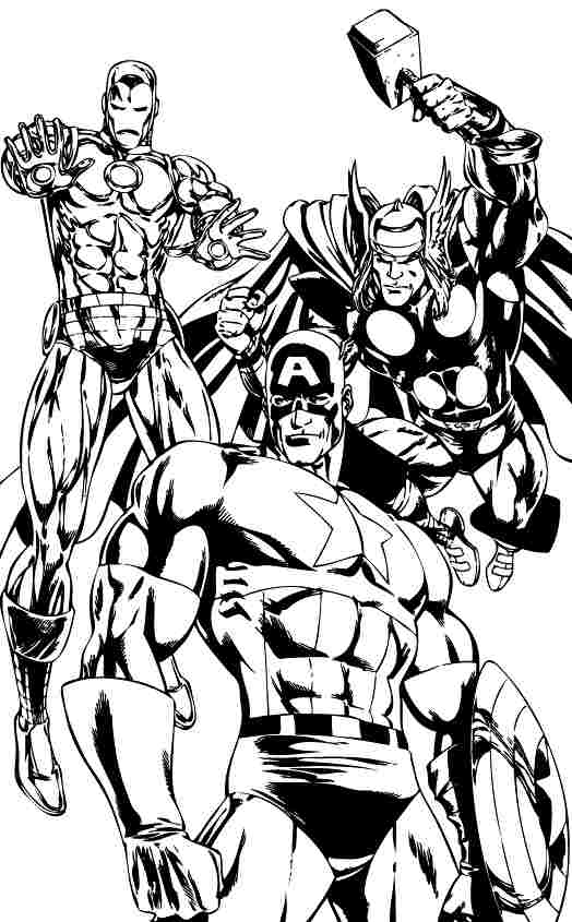 Avengers #74162 (Superheroes) - Printable coloring pages