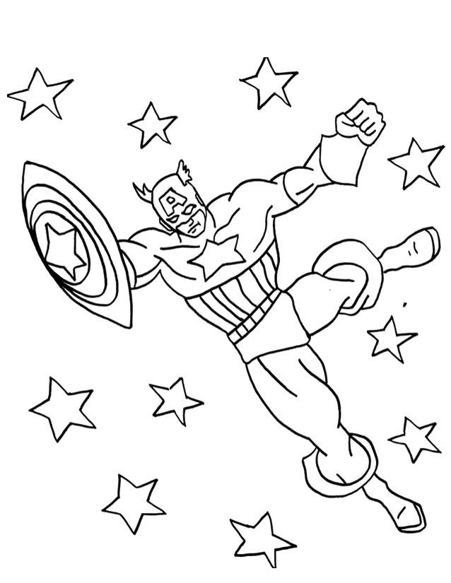 Captain America 76607 Superheroes Printable Coloring Pages