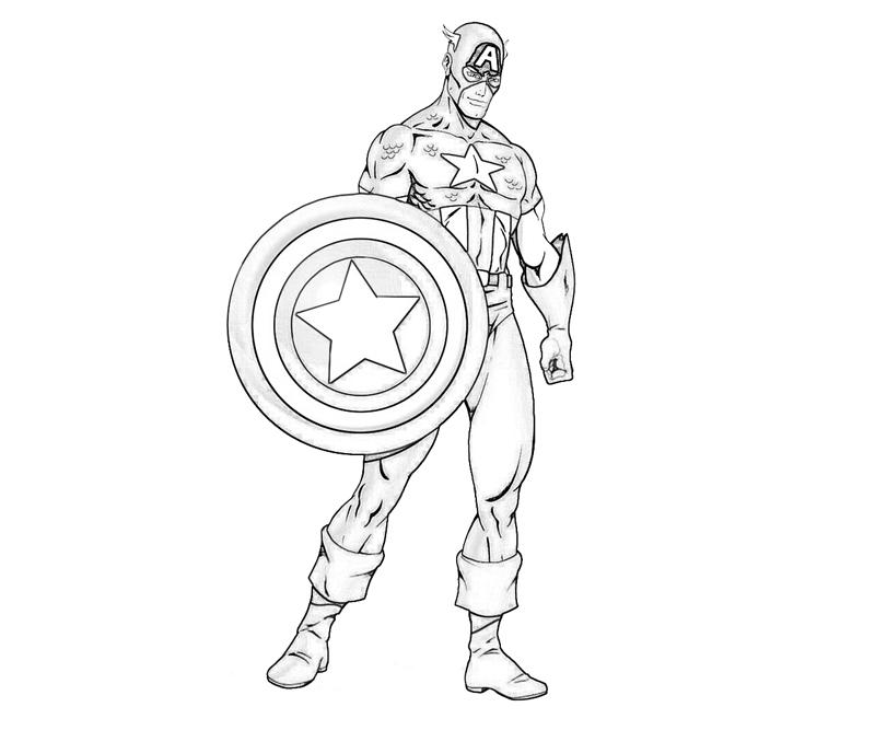 Captain America 76612 Superheroes Printable Coloring Pages