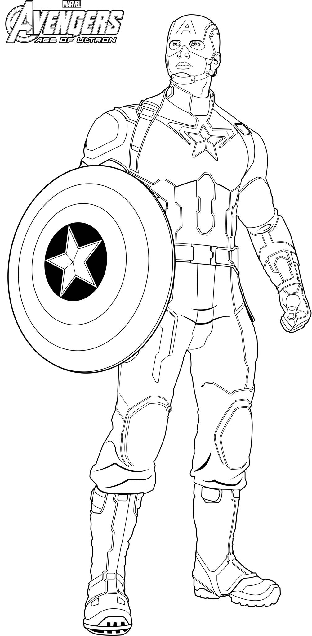 Captain America (Superheroes) - Page 3 - Printable ...