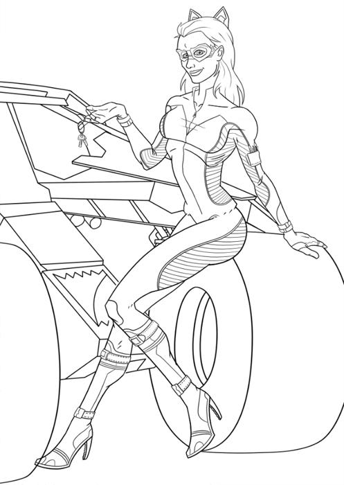 Catwoman 78116 Superheroes Printable Coloring Pages