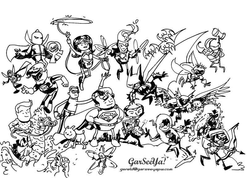 Dc Comics Super Heroes 80146 Superheroes Printable Coloring Pages