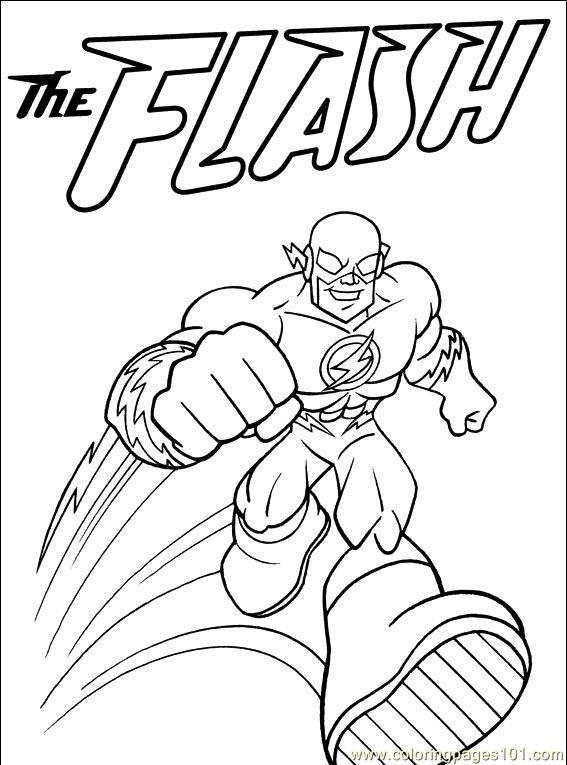 Flash 83349 Superheroes Printable Coloring Pages