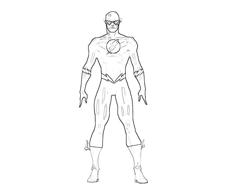 Flash (Superheroes) – Printable Coloring Pages