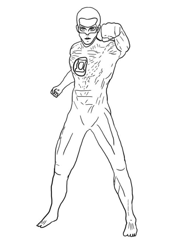 Green Lantern 81310 Superheroes Printable Coloring Pages