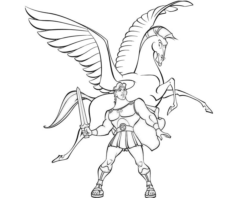 Hercules 84239 Superheroes Printable Coloring Pages