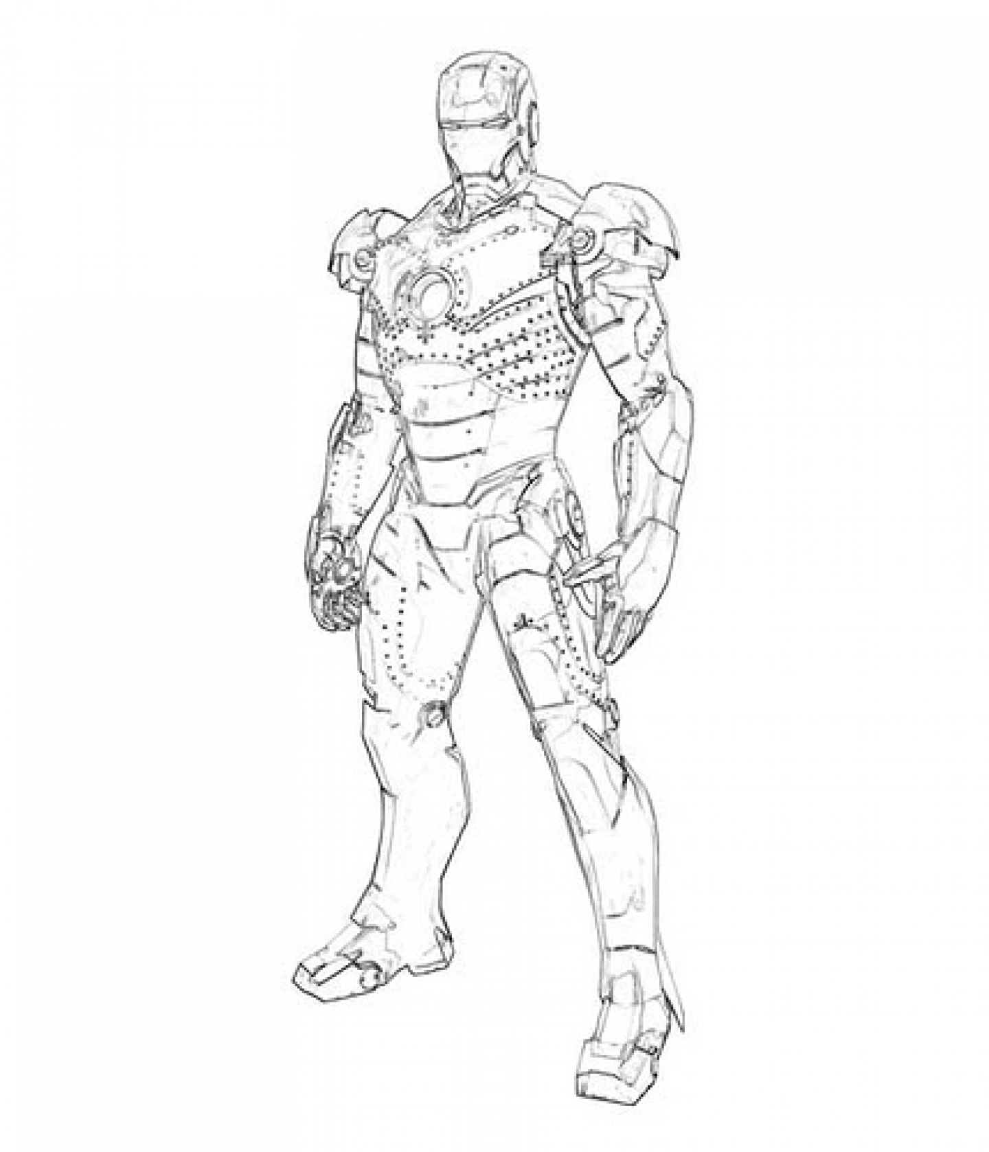 Iron Man 18 Superheroes – Printable coloring pages