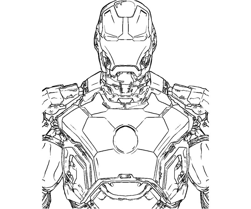 Iron Man #80536 (Superheroes) - Printable coloring pages