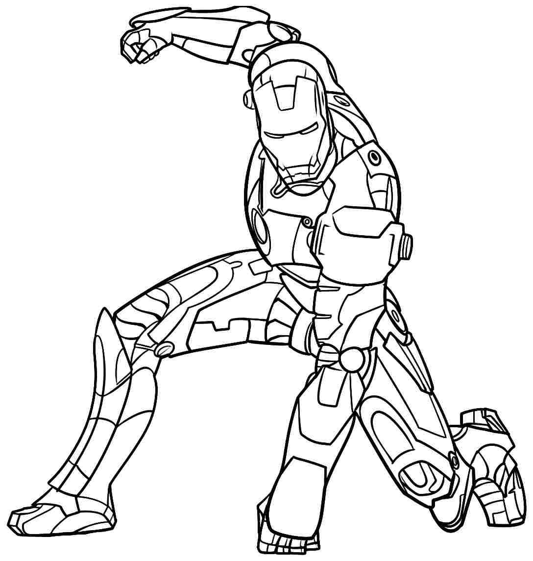 Iron Man (Superheroes) - Printable coloring pages
