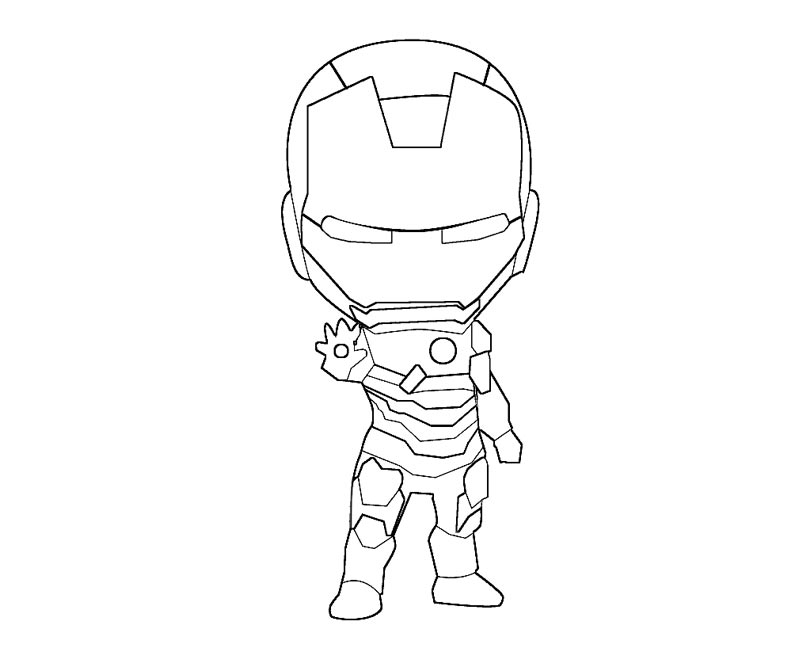 Iron Man 80541 Superheroes Printable Coloring Pages