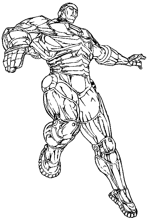 Iron Man #80564 (Superheroes) - Printable coloring pages
