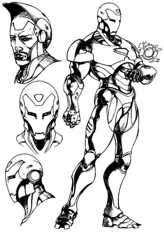 Iron Man #80671 (Superheroes) - Printable coloring pages