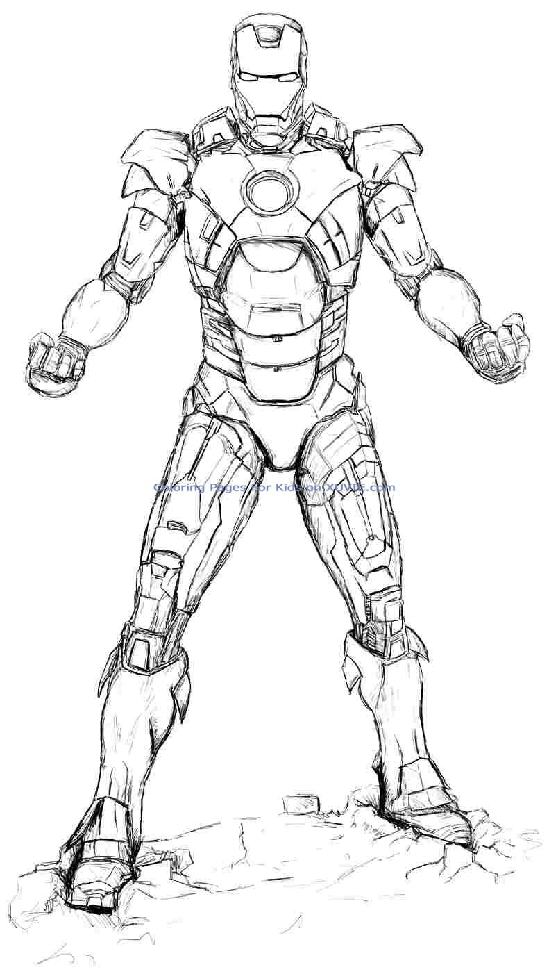 Iron Man Superheroes Page 2 Printable Coloring Pages