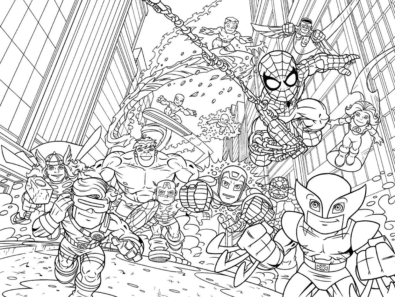 Marvel Super Heroes 79587 Superheroes Printable Coloring Pages