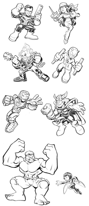 Marvel Super Heroes 79778 Superheroes Printable Coloring Pages