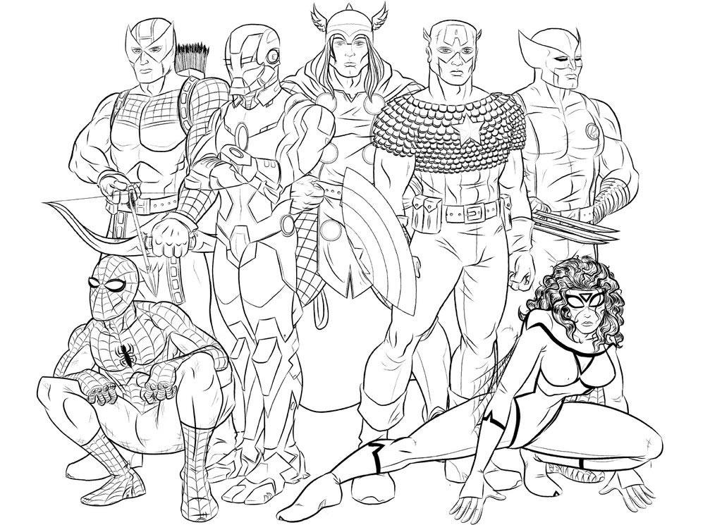 Marvel Super Heroes Superheroes Printable Coloring Pages