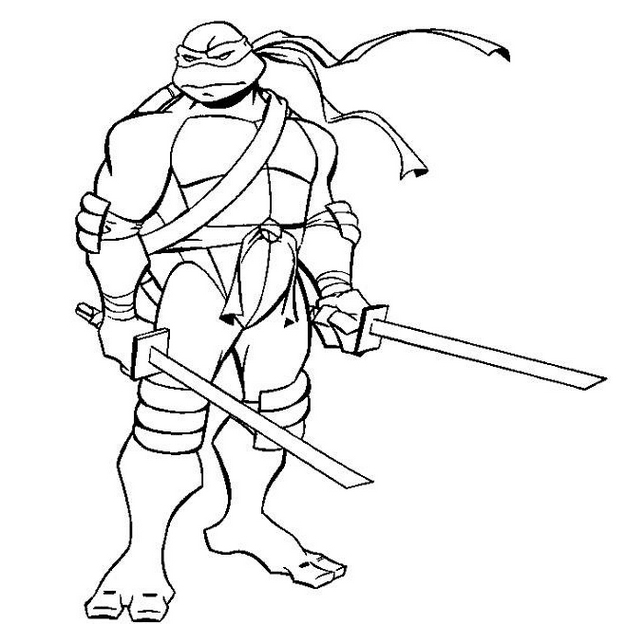 - Ninja Turtles (Superheroes) – Printable Coloring Pages