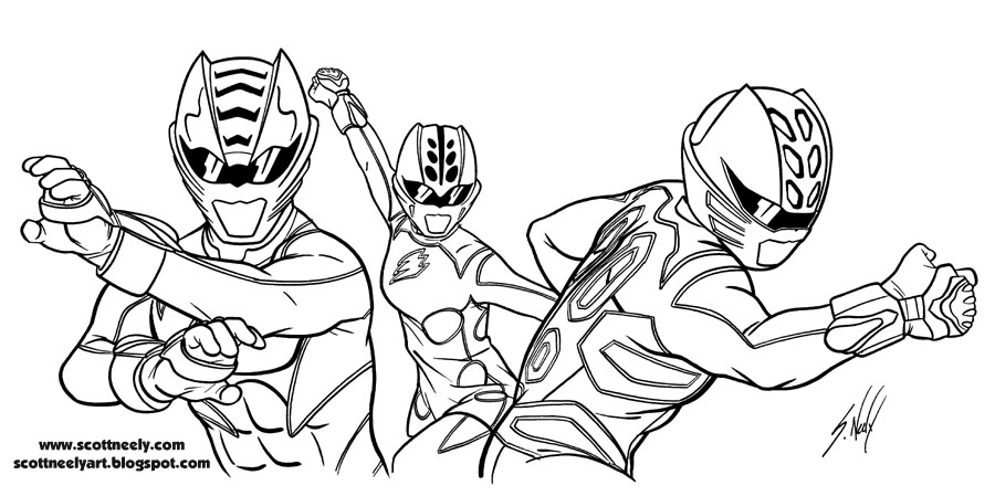 - Power Rangers (Superheroes) – Printable Coloring Pages