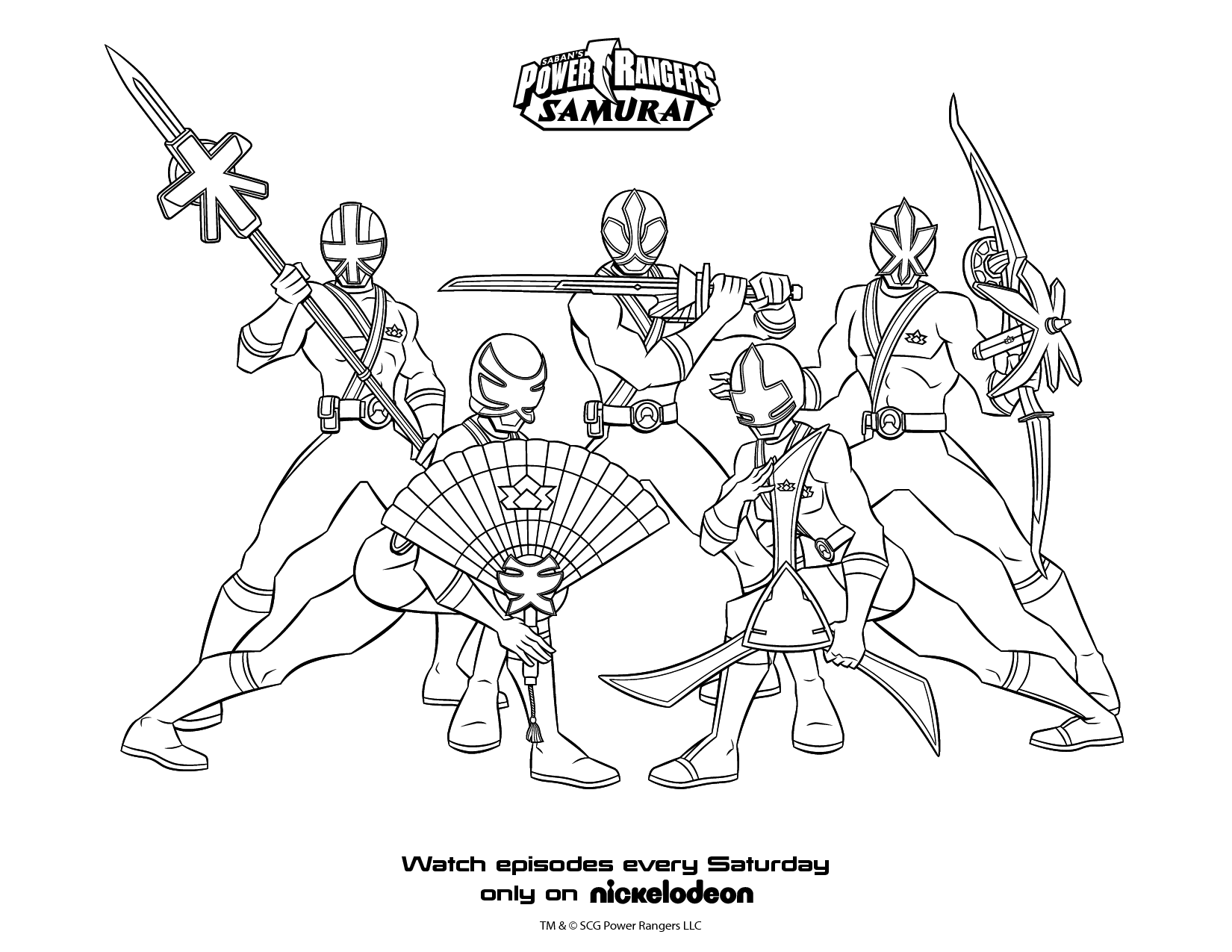 Power Rangers (Superheroes) - Printable coloring pages