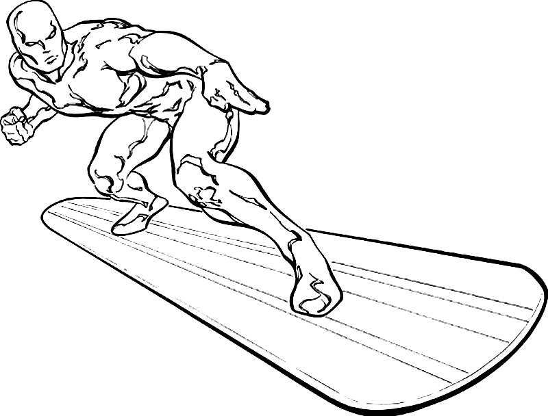 Silver Surfer Superheroes Printable Coloring Pages