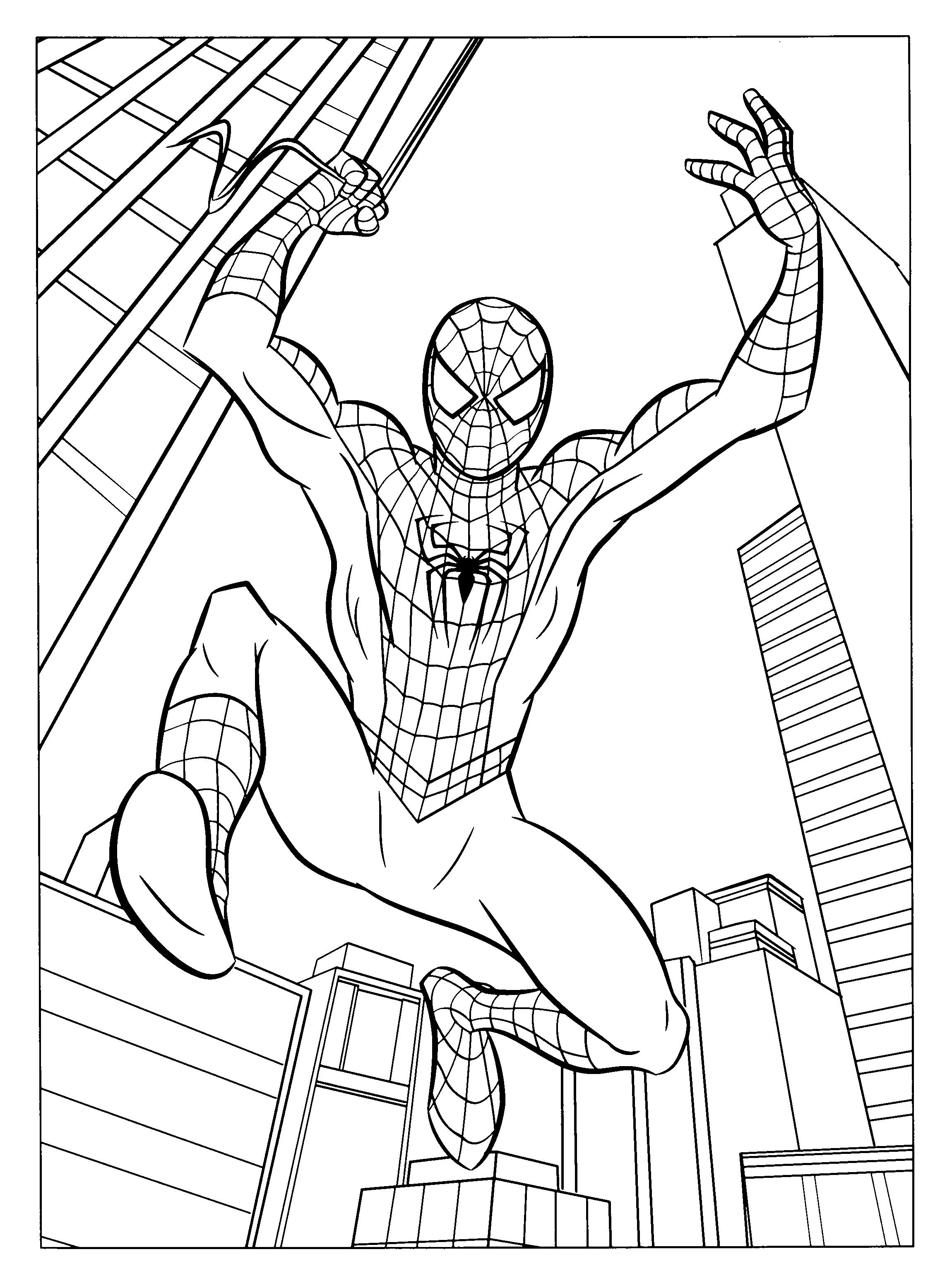 Spiderman 78640 Superheroes Printable Coloring Pages
