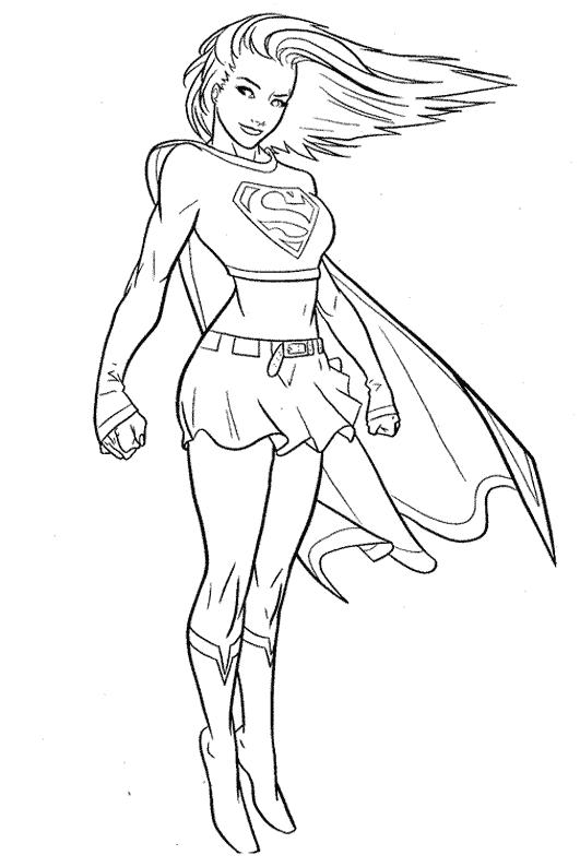 Supergirl (Superheroes) - Printable coloring pages