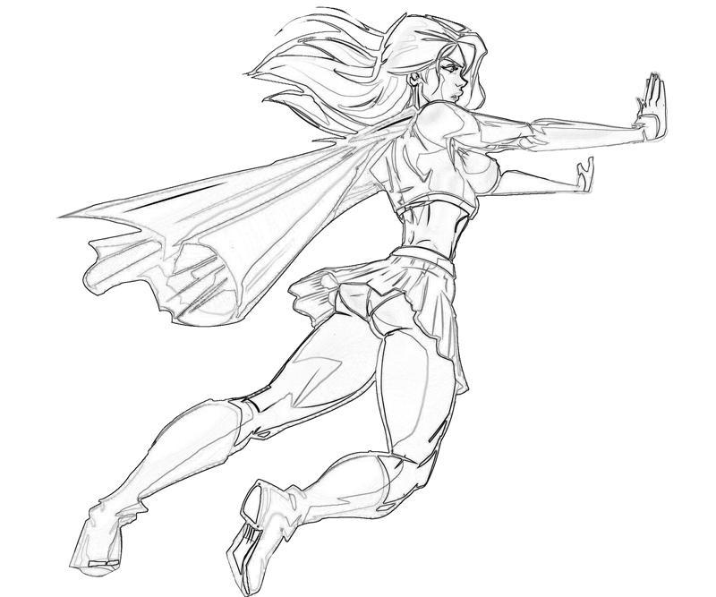 - Supergirl #83936 (Superheroes) – Printable Coloring Pages