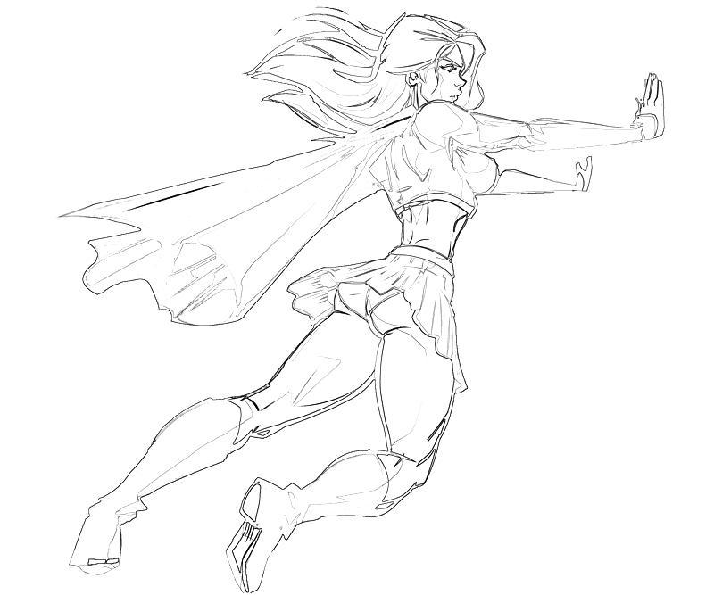 - Supergirl #83953 (Superheroes) – Printable Coloring Pages