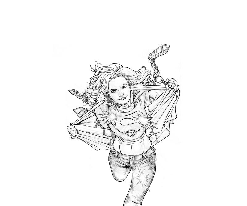 Supergirl #83958 (Superheroes) – Printable Coloring Pages
