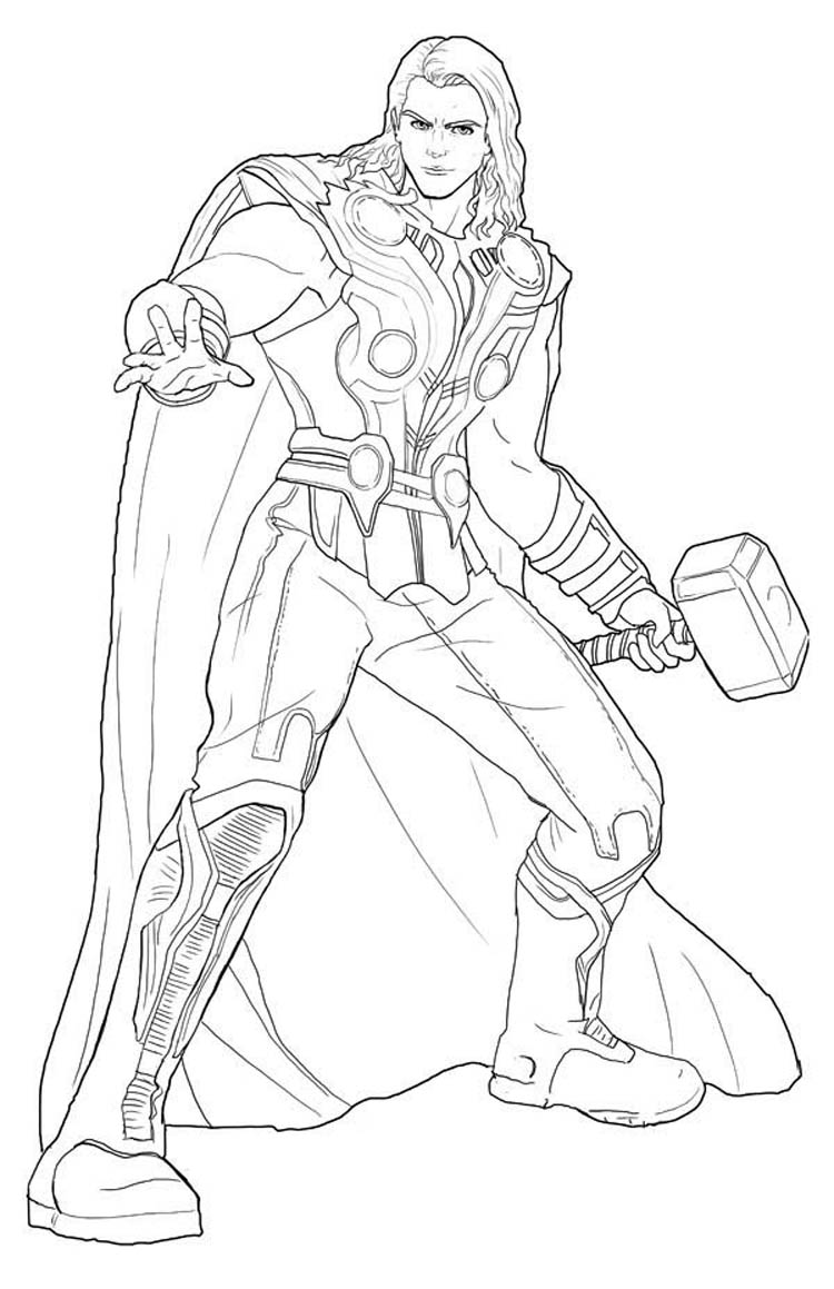 Thor 75780 Superheroes Printable Coloring Pages