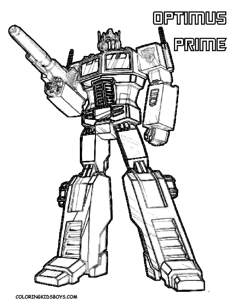 Transformers Superheroes Printable Coloring Pages