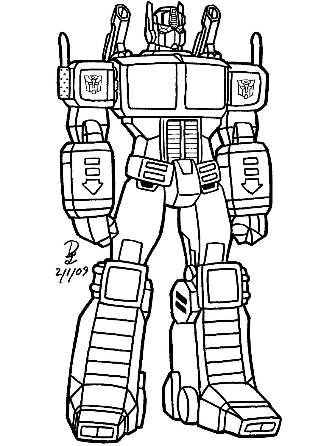 Transformers (Superheroes) - Printable coloring pages