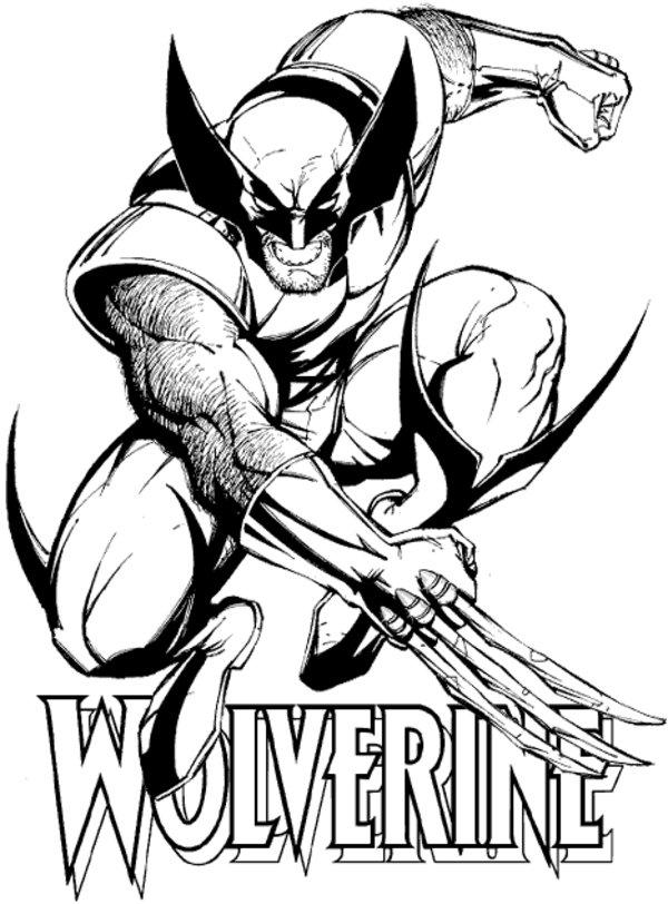 Wolverine (Superheroes) - Printable coloring pages