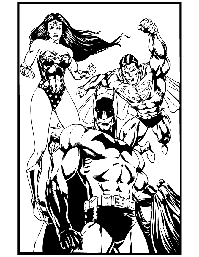 Wonder Woman 74616 Superheroes Printable Coloring Pages