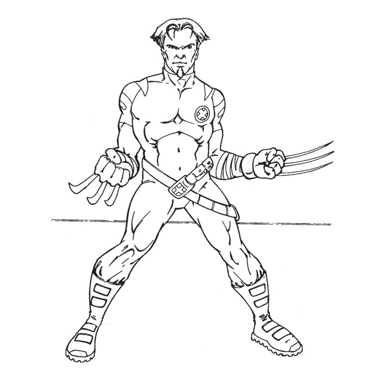 X Men 74341 Superheroes Printable Coloring Pages